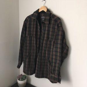 Brown woolrich wool over shirt